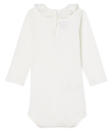 Body manica lunga bebè femmina con collettino bianco Marshmallow Cn