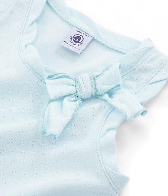 Canottiera bambina blu Bocal