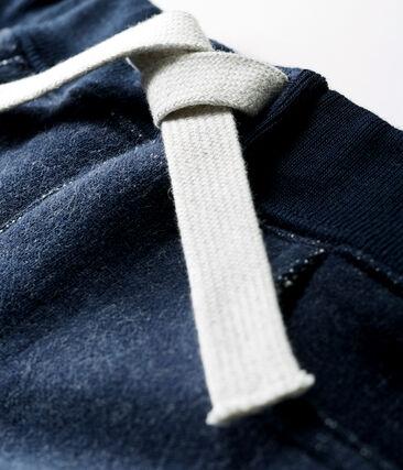Pantalone bebè maschio in molleton blu Smoking