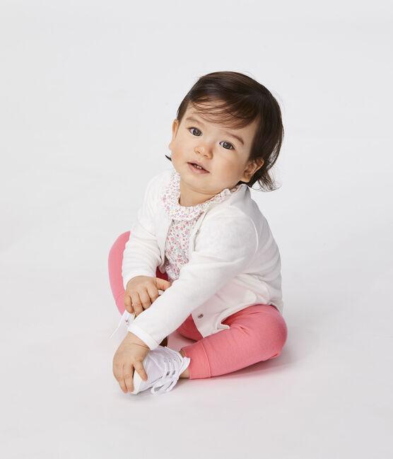 Cardigan leggero bebè femmina bianco Marshmallow