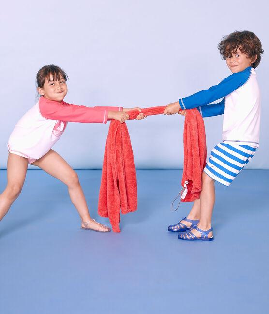 Short da spiaggia bambino blu Riyadh / bianco Marshmallow