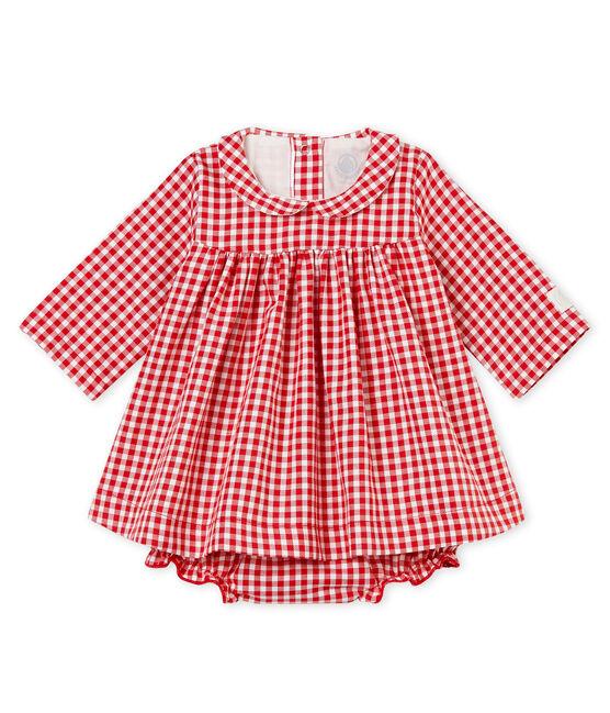 Abito ML e culotte bloomer vichy rosso Terkuit / bianco Marshmallow