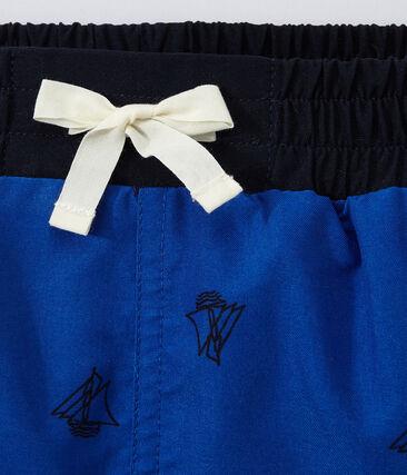 Costume da bagno bambino stampato blu Perse / blu Smoking