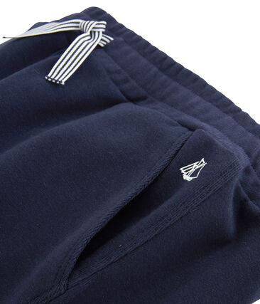 Pantalone in maglia da bambino blu Smoking