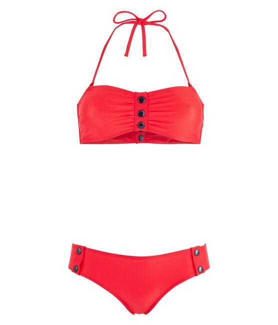 Costume da bagno 2 pezzi ecoresponsabile donna rosso Peps