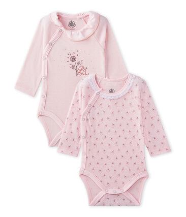 Lotto di 2 bodies nascita maniche lunghe per bebé femmina