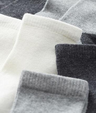 Confezione da 5 paia di calzini basici bebè maschio grigio City Chine