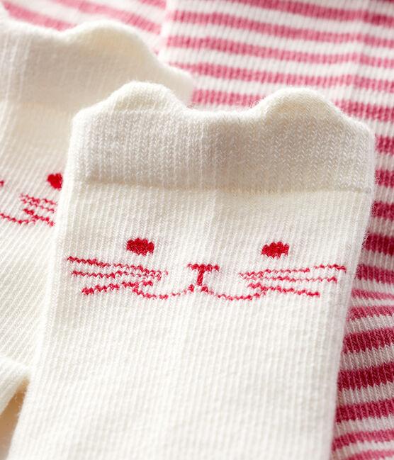 Confezione da 2 paia di calzini bebè lotto .