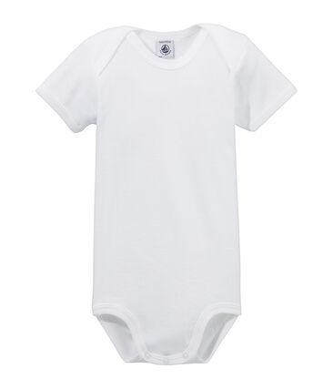 Body manica corta bebè bianco Ecume