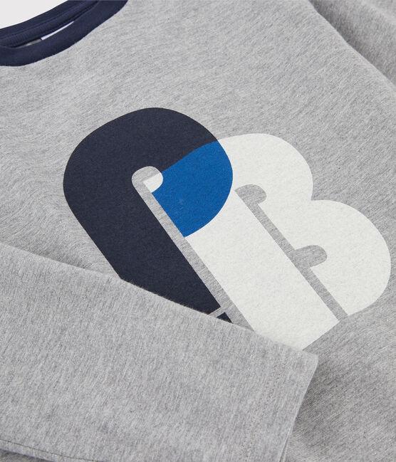 T-shirt serigrafata bambino grigio Subway
