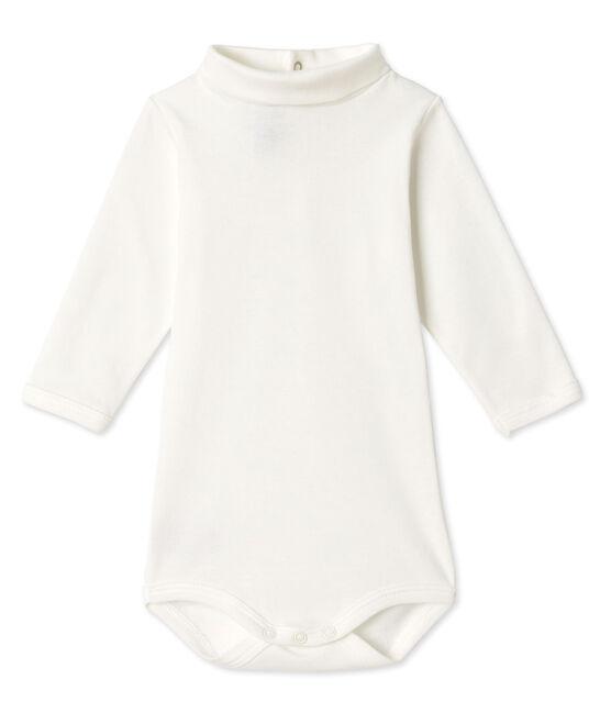 Body bebè scollo tondo bianco Lait