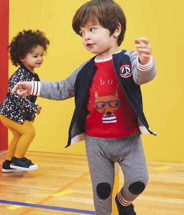 T-shirt a manica lunga bebè maschio rosso Terkuit / grigio Beluga