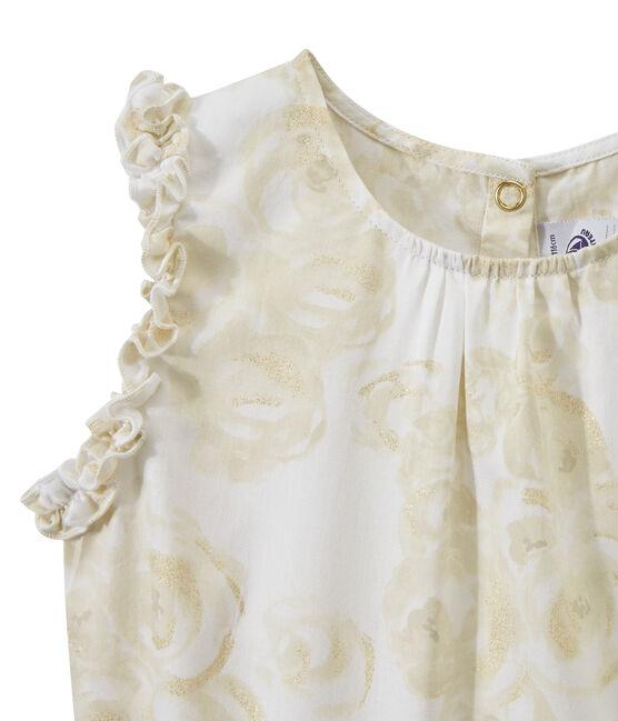 Abito bambina senza maniche stampato bianco Marshmallow / bianco Multico