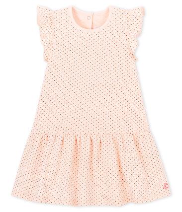 Abito senza maniche bebè femmina in maglia rosa Fleur / rosa Copper
