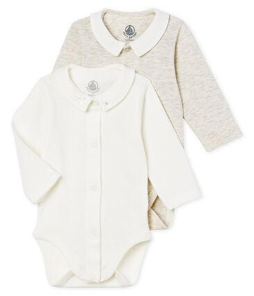 Confezione da 2 body manica lunga con colletto bebè maschio
