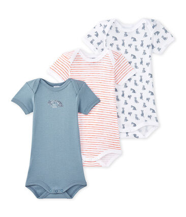 Lotto di 3 bodies per bebé maschio a maniche corte lotto .