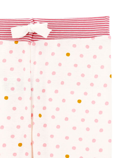 Pantalone per pigiama bambina bianco Marshmallow / bianco Multico
