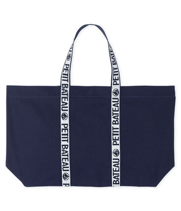 Borsa shopping con logo blu Smoking