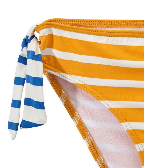 Costume da bagno bambina 2 pezzi arancione Fusion / bianco Marshmallow
