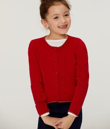 Cardigan tricot bambina rosso Terkuit