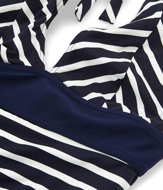 Costume intero blu Smoking / bianco Marshmallow