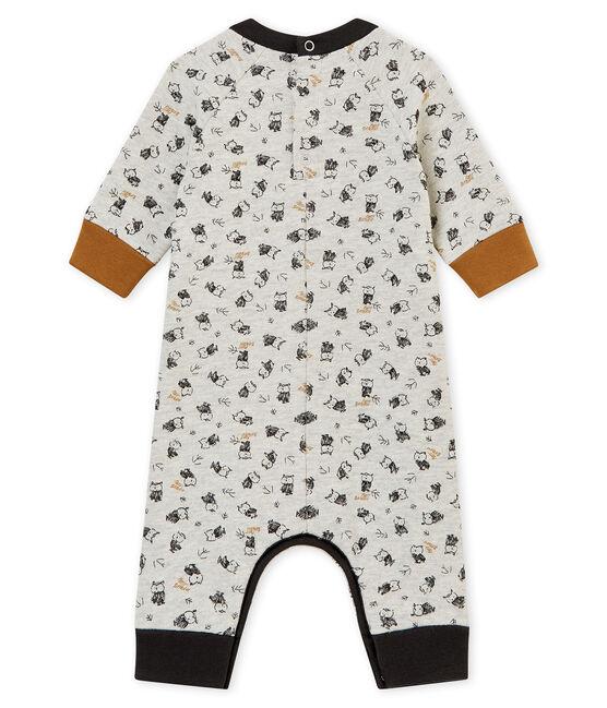 Tutina lunga stampata per bebé maschio grigio Beluga / bianco Multico