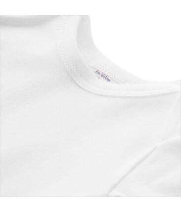 T-shirt bebé unisex tinta unita bianco Ecume