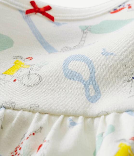 Tutina corta per bebé femmina bianco Marshmallow / bianco Multico