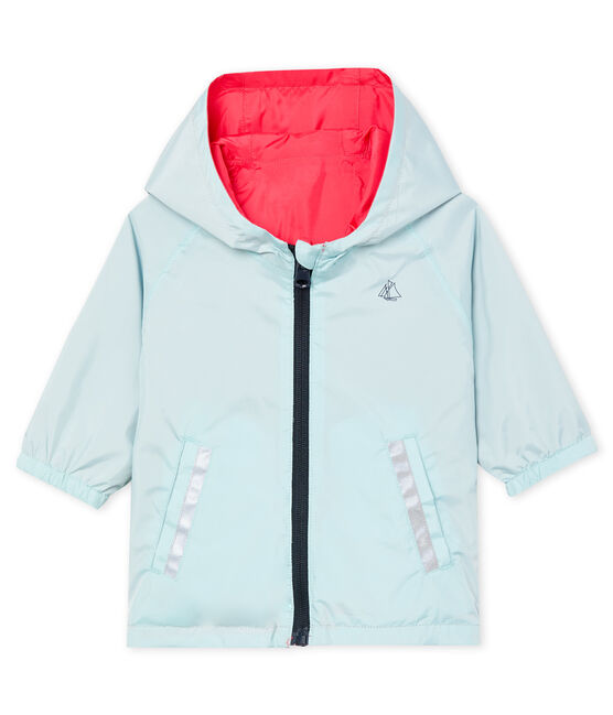 Giacchetta reversibile neonata rosa Groseiller / blu Crystal
