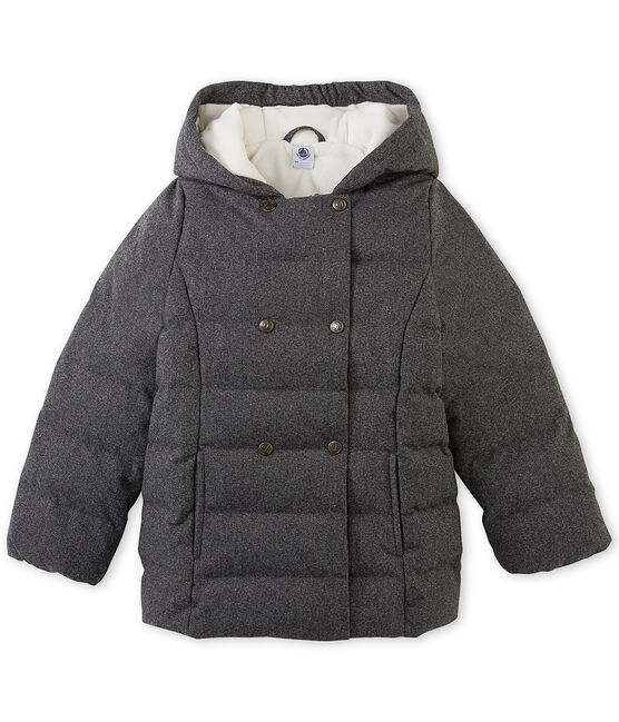 Piumino bambina in flanella resistente all'acqua grigio Subway Chine