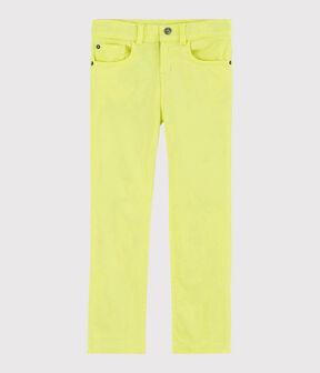 Pantaloni in serge bambino giallo Citronel