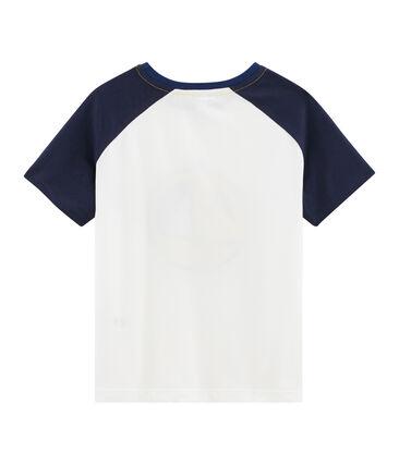 T-shirt bambino bianco Marshmallow / blu Smoking