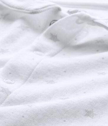 Tutina bebé unisex e cappellino nascita bianco Ecume / marrone Shitake