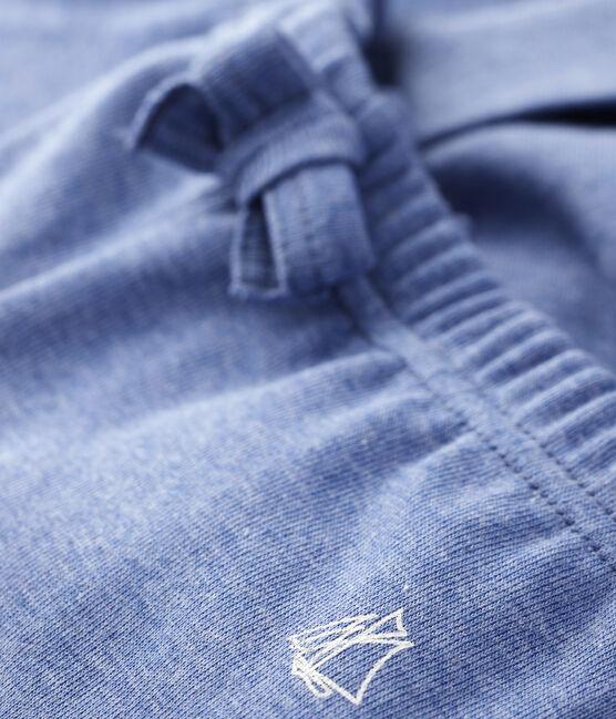 Pantalone bebè maschio in maglia blu Captain Chine