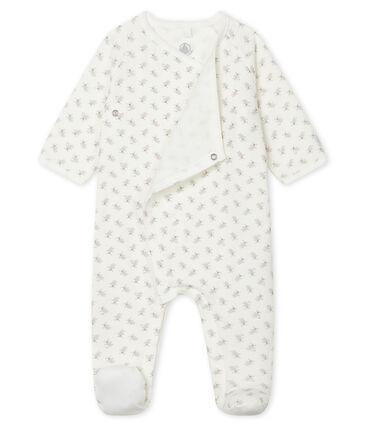 Tutina pigiama bebè in tubique bianco Marshmallow / bianco Multico