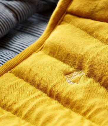 Giubbotto senza maniche in tubique trapuntato bebè unisex giallo Boudor