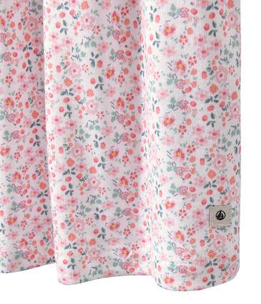 Camicia da notte arricciata stampata bianco Ecume / bianco Multico