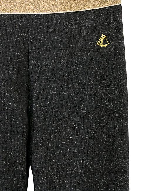 Leggings con paillettes per bambina grigio Capecod / giallo Dore