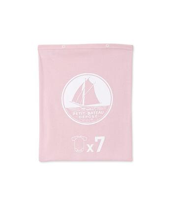 Pochette a sorpresa contenente 7 body a maniche corte per femminucce lotto .
