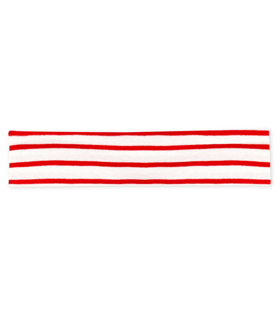 Fascia bebè femmina a righe bianco Marshmallow / rosso Terkuit