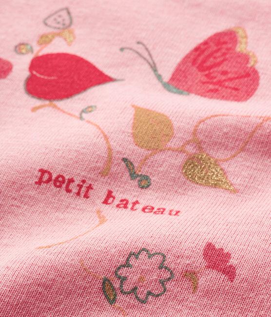 Body manica corta bebè bambina rosa Gretel