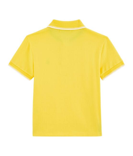Polo bambino giallo Shine
