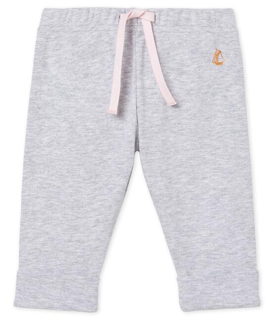 Pantalone bebè femmina in maglia grigio Poussiere Chine