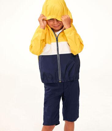 Giacca a vento corta da bambino giallo Jaune / bianco Multico