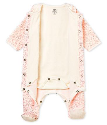 Bodygiama stampato in ciniglia per bebé femmina