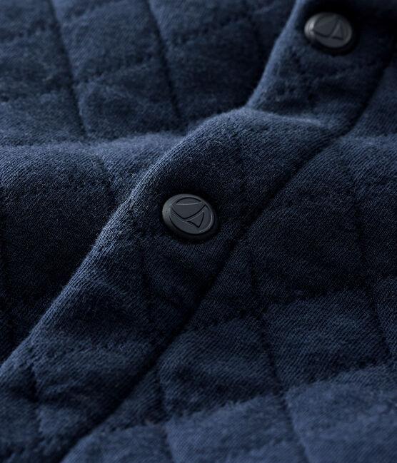 Cardigan in tubique trapuntato bebè maschio blu Smoking