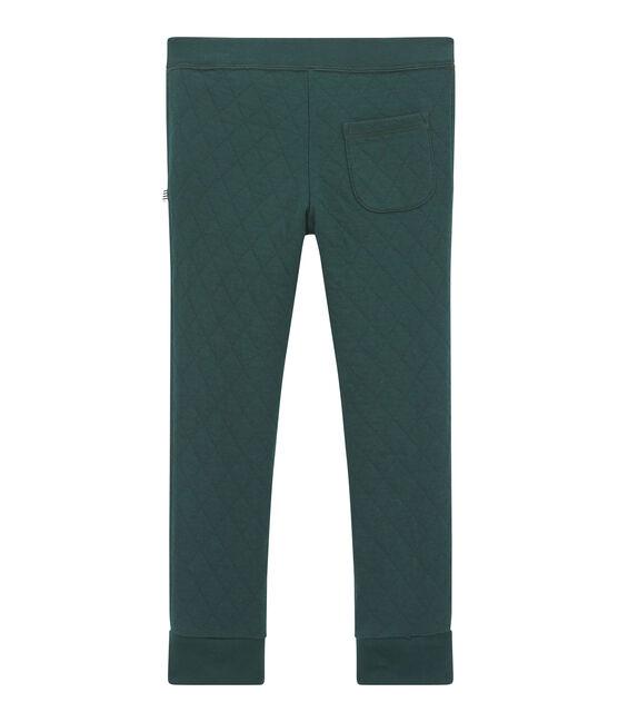 Pantalone in tubique matelassé per bambino verde Sherwood