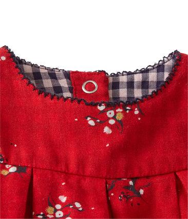 Abito per bebé femmina in tubique stampato rosso Froufrou / bianco Multico
