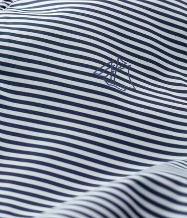 Giacca antivento rigata bebè unisex blu Smoking / bianco Marshmallow