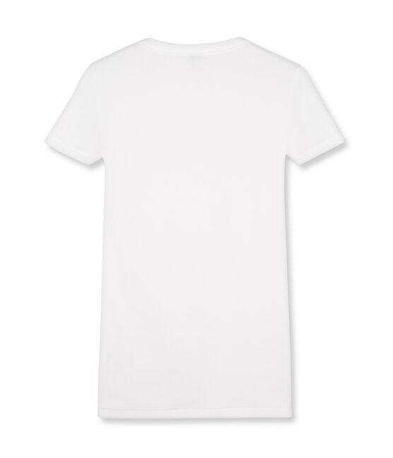 T-shirt manica corta iconica donna bianco Ecume